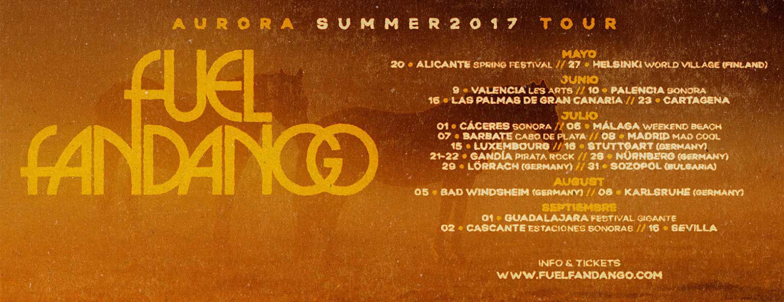 Fuel Fandango Aurora Summer 2017 tour